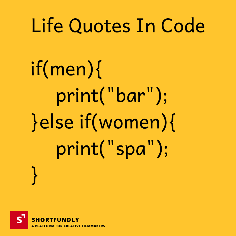 Life quotes in code