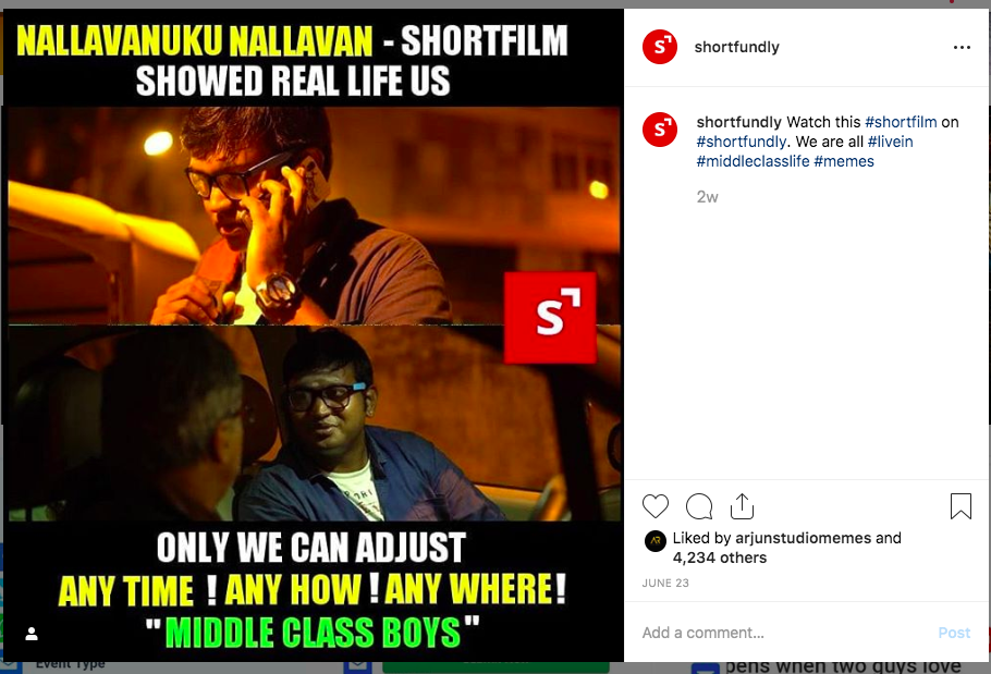 Get 4000+ likes via Short film Memes promotion – Rs.399/-only