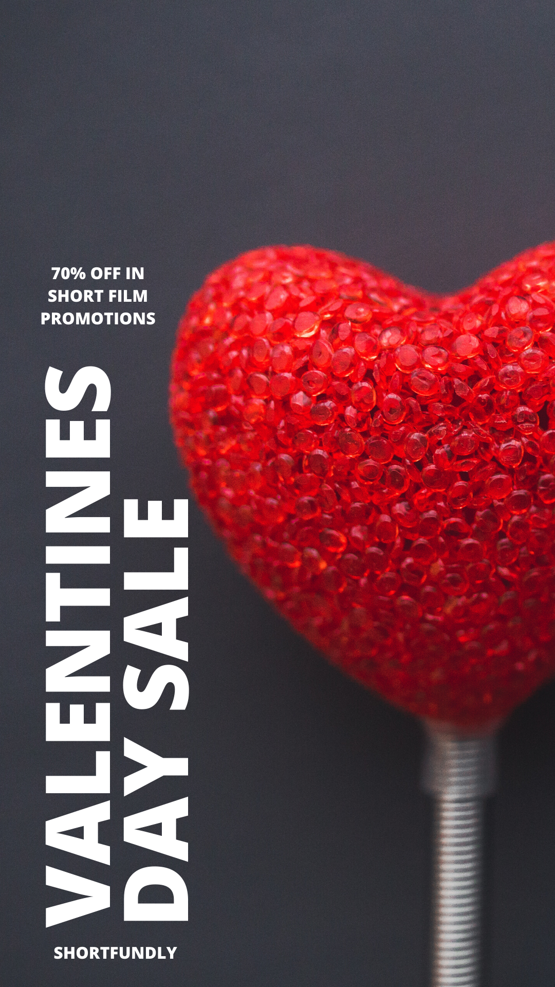 Valentine's day sale – 70% off in short film promotion.
