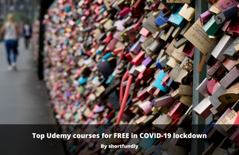 Top 2020 Udemy courses for FREE in COVID-19 lockdown
