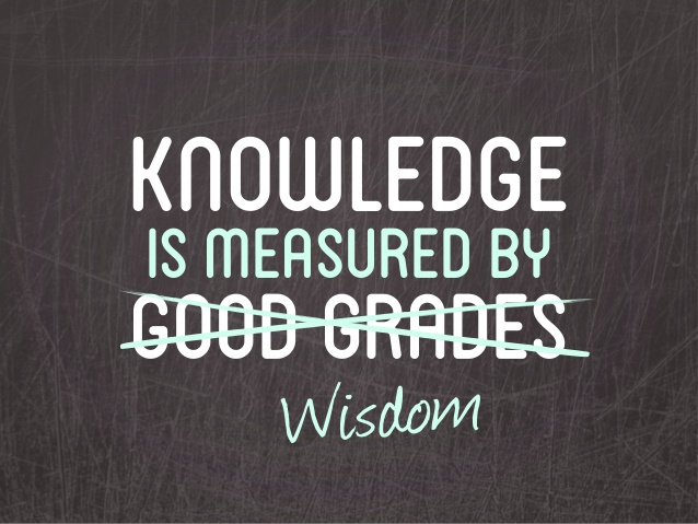 knowledge is not measured by marks