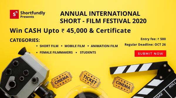 Shortfundly Annual film festival 2020 in india