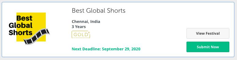 Best global shorts film festival in chennai