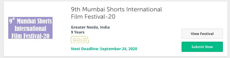 Mumbai Shorts International Film Festival in india - 2020