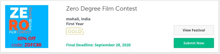 zero degree film festival contest in 2020